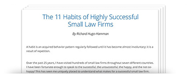 The 11 Habits of Highly Successful Small Law Firms by Richard Hugo-Hamman