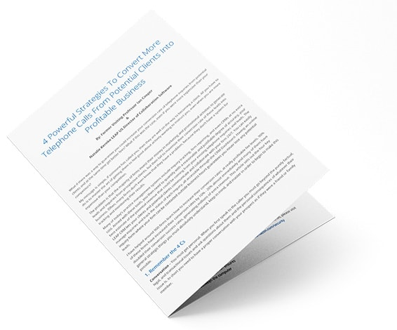 4 Powerful Strategies to Convert Potential Clients into Profitable Business White Paper