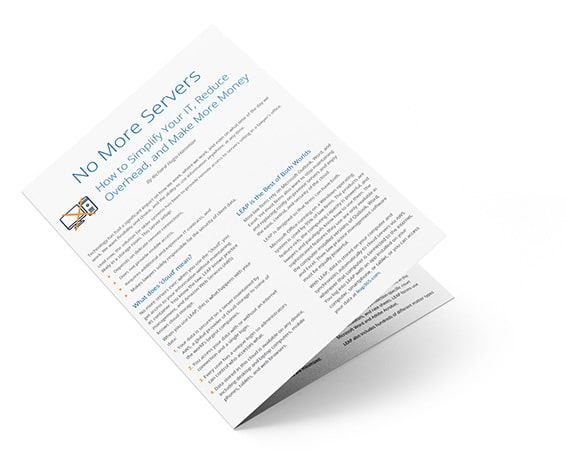 No More Servers Whitepaper - Simplify your IT, reduce overhead, and make more money