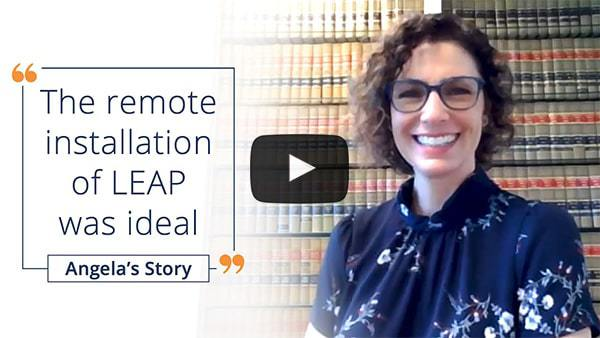 Install and training provided by LEAP completely remotely - Angela's video review