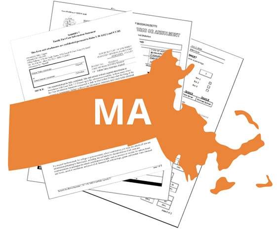 Massachusetts legal forms for lawyers - LEAP has a full library included with document automation