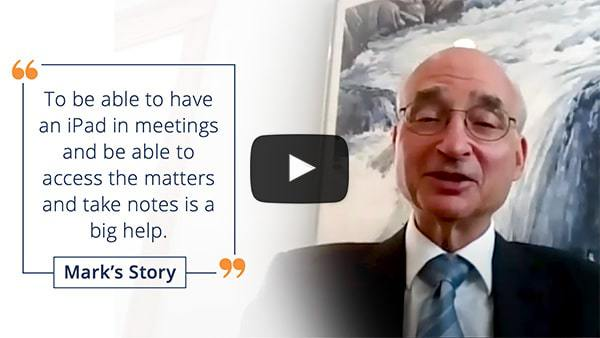 Being able to manage matters during client meetings helps serve clients better - Mark's video review
