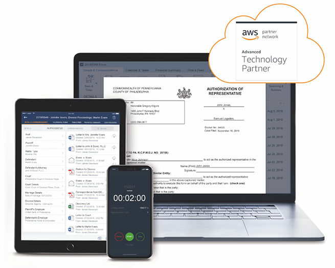 Cloud-based legal practice management software available on any device