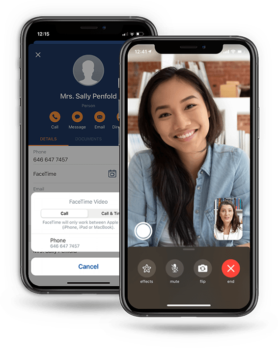 LEAP integration with FaceTime - call clients directly from a LEAP matter