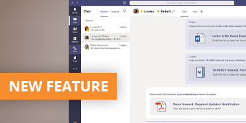 Collaborate with your team and clients from anywhere - Microsoft Teams integrates with LEAP